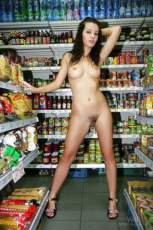 Doing the evening shopping naked.