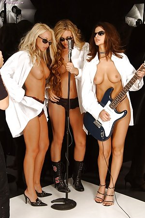 Four girls naked on the picture together.