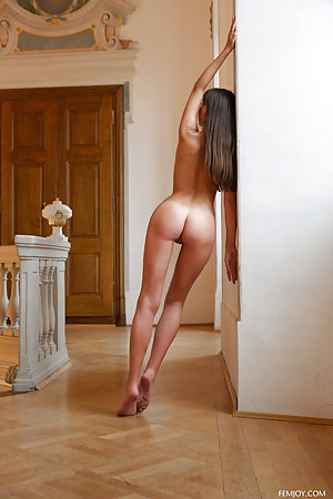 Fine ass is pictured next to a wall