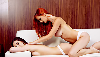 Redhead offers her lesbo lover some 69