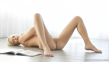 Slender blonde likes all her sex toys