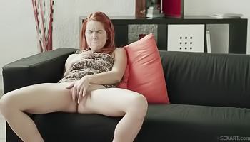 Horny girl is fingering her pussy
