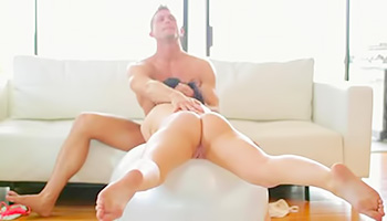 Brunette fucked on a Pilates ball