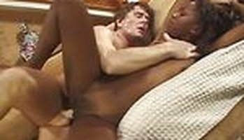 Retro interracial porn with a sexy black chick