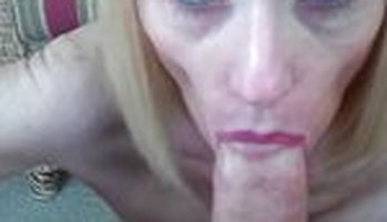 Mature blowjob from first person perspective