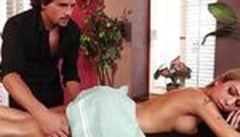 Blonde latina Kat Dior with sexy boobies drilled by a masseur