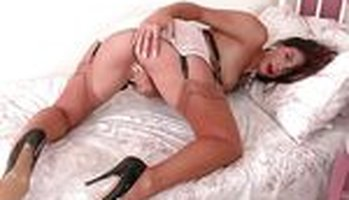 Roxy Mendez - High heels and stockings solo