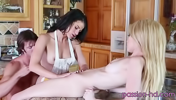 Two sexy babes are being very naughty